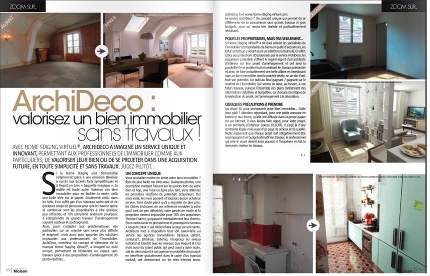 Article Univers de la maison OCT-NOV-2014