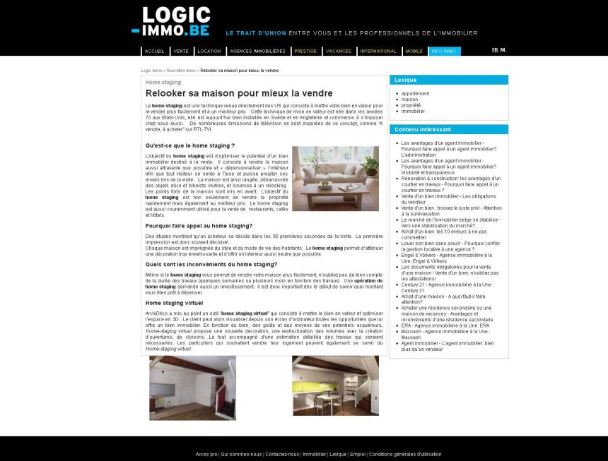 Logicimmo.be août 2012