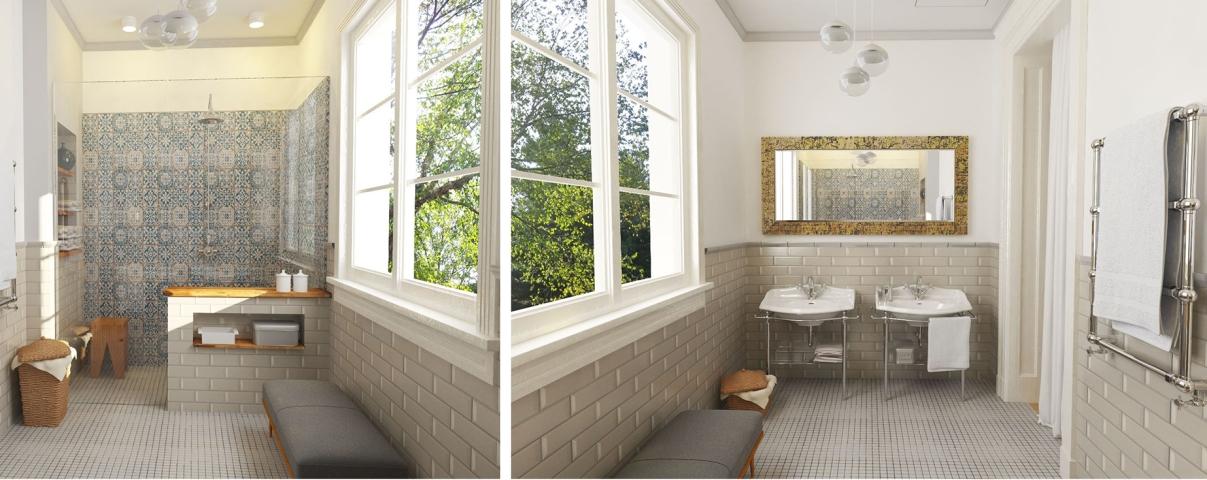salle de bain salle d eau deux cousins loign s archideco hsv. Black Bedroom Furniture Sets. Home Design Ideas