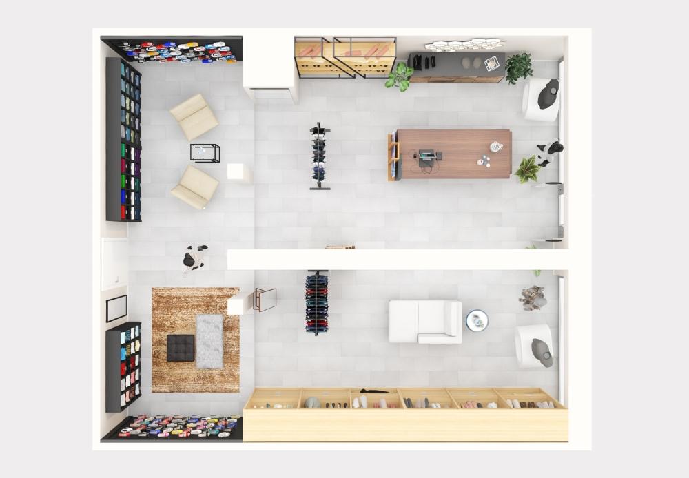 Plan 3D - Boutique prêt-à-porter