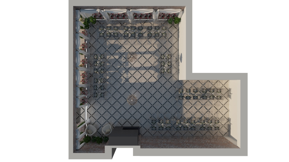 Plan 3D - Salle de mariage